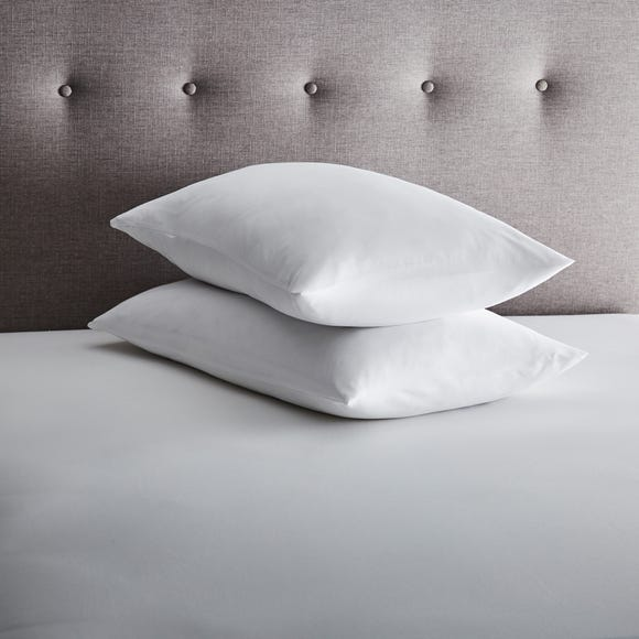 Fogarty Pair of Eucalyptus Scented Pillow Protectors White