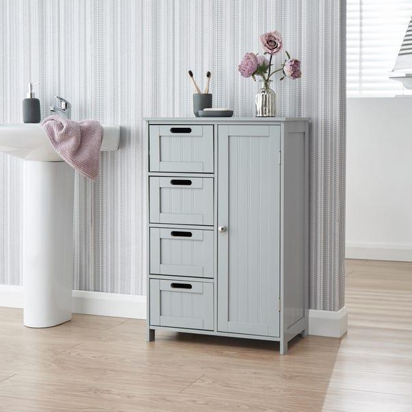 Grey Shaker Bathroom Unit Grey