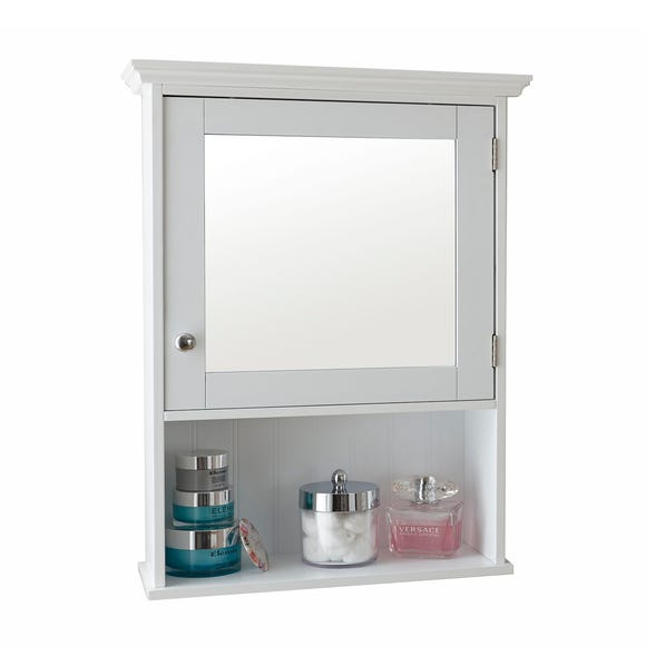 Mirrored Wall Cabinet White