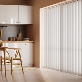 White Stripe Cordless Vertical Blind