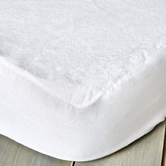 Staydrynights Terry Towelling Waterproof Mattress Protector White undefined