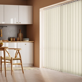 Cream Stripe Cordless Vertical Blind