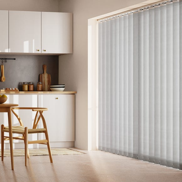 Grey Stripe Cordless Vertical Blind  undefined