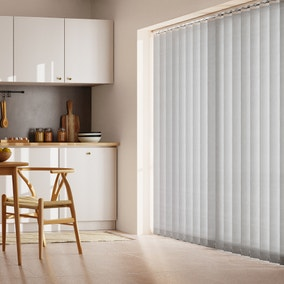 Grey Stripe Cordless Vertical Blind