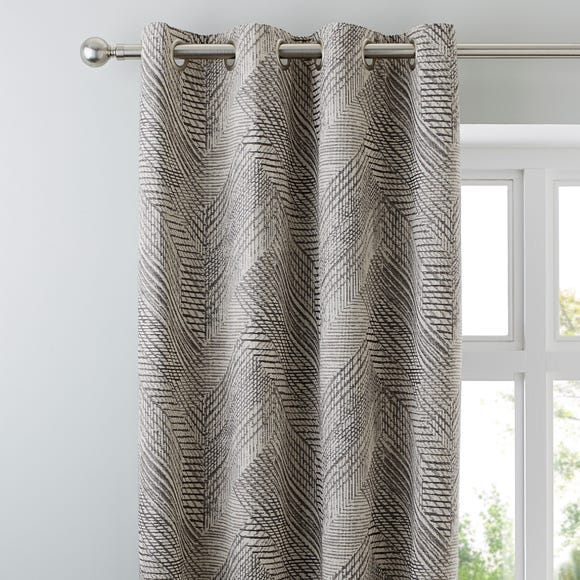 Mika Charcoal Eyelet Curtains Charcoal undefined