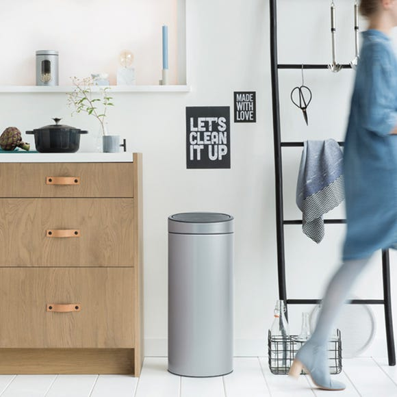 Brabantia 30L Metallic Grey Touch Bin Metallic grey