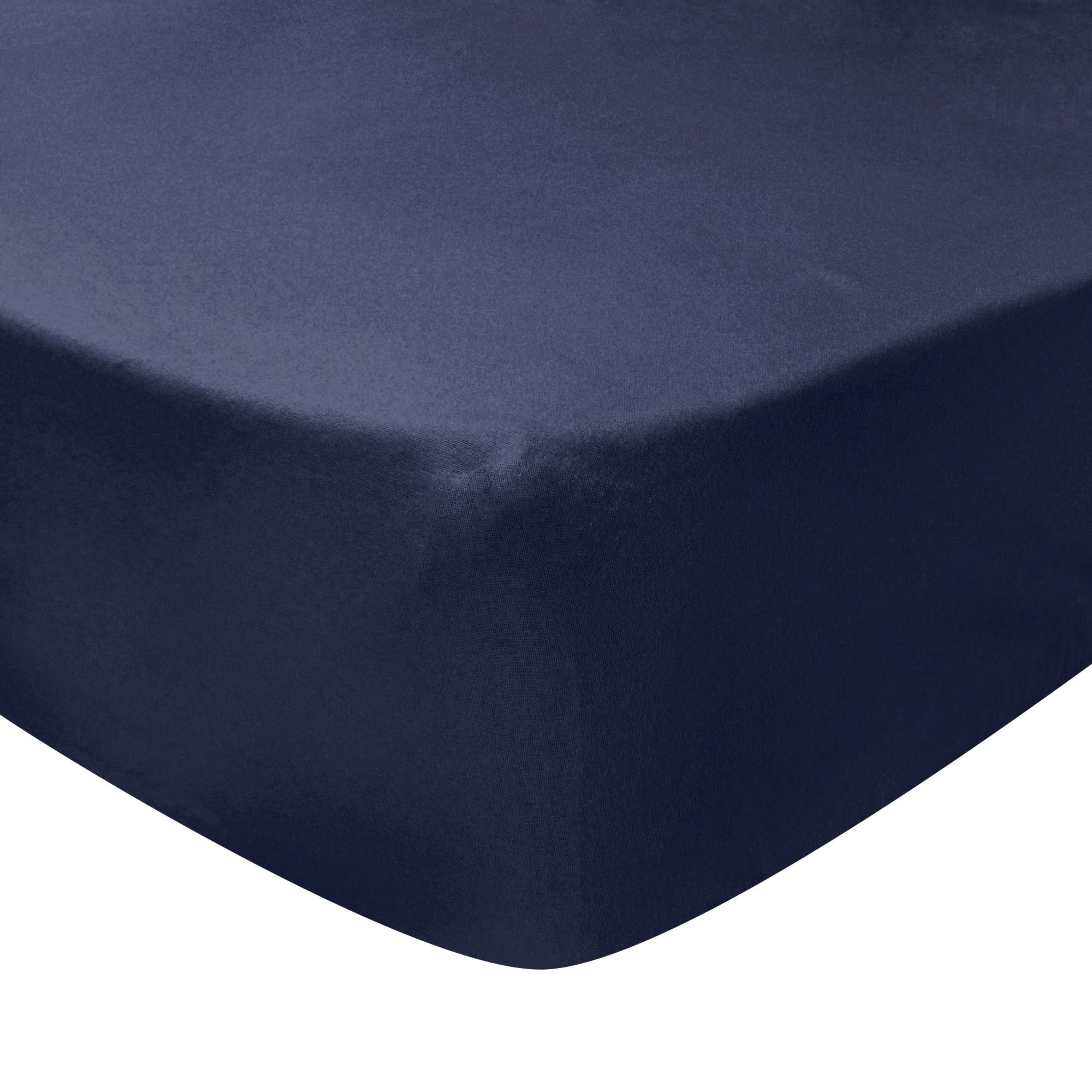 Photo of Luxury brushed cotton standard 28cm fitted sheet navy