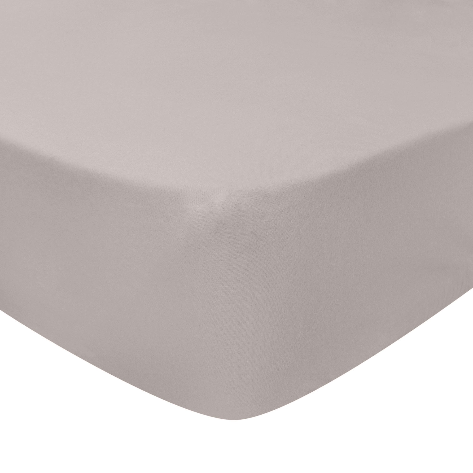 Photo of Luxury brushed cotton standard 28cm fitted sheet silver