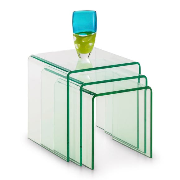 Amalfi Glass Nest of Tables Clear