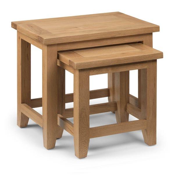 Astoria Oak Nest of Tables Natural