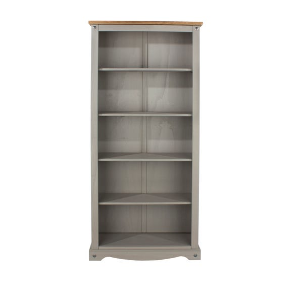 Corona Grey Tall Bookcase Grey