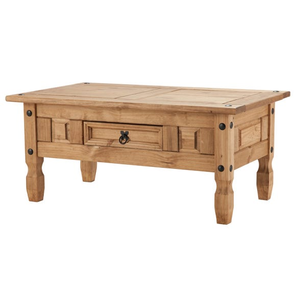 Corona Pine Coffee Table with Drawer Natural
