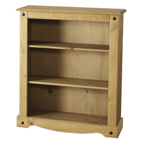 Corona Pine Low Bookcase