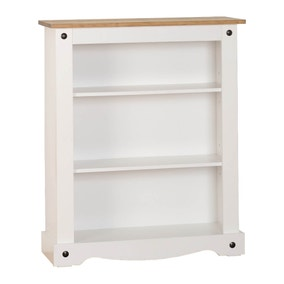 Corona Pine White Low Bookcase
