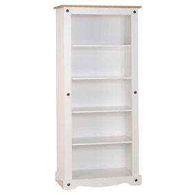 Corona Pine White Tall Bookcase