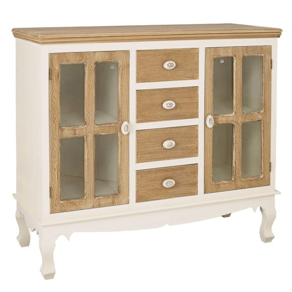 Juliette Sideboard with Glass White