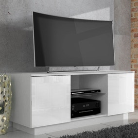 Lima White High Gloss TV Stand
