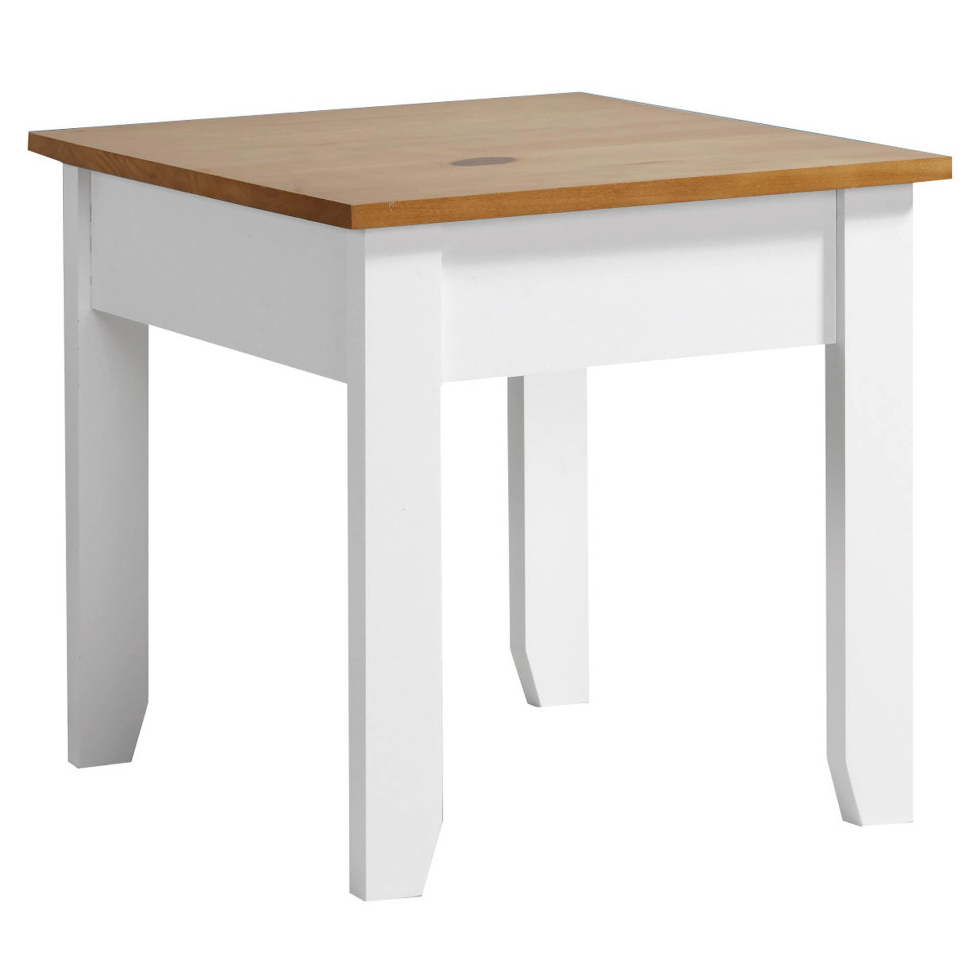 Ludlow White Lamp Table White and Brown
