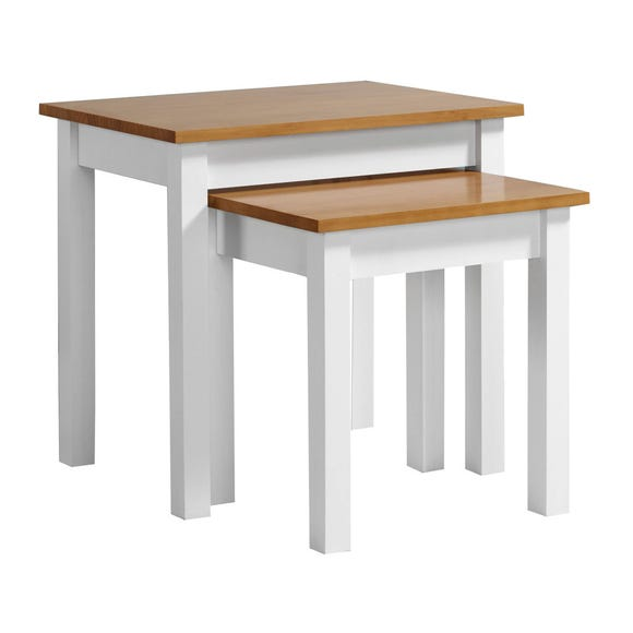 Ludlow White Nest of Tables Natural