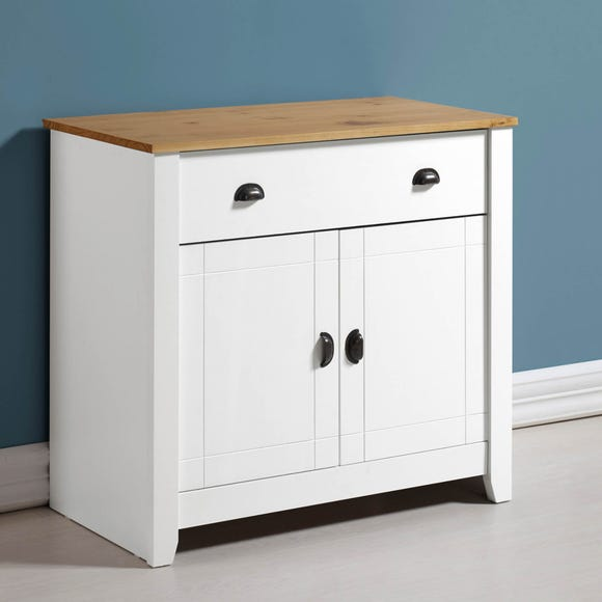 Ludlow White Sideboard Natural