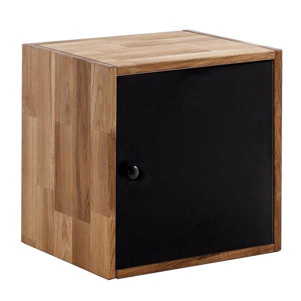 Maximo Oak Single Cube With Door Natural