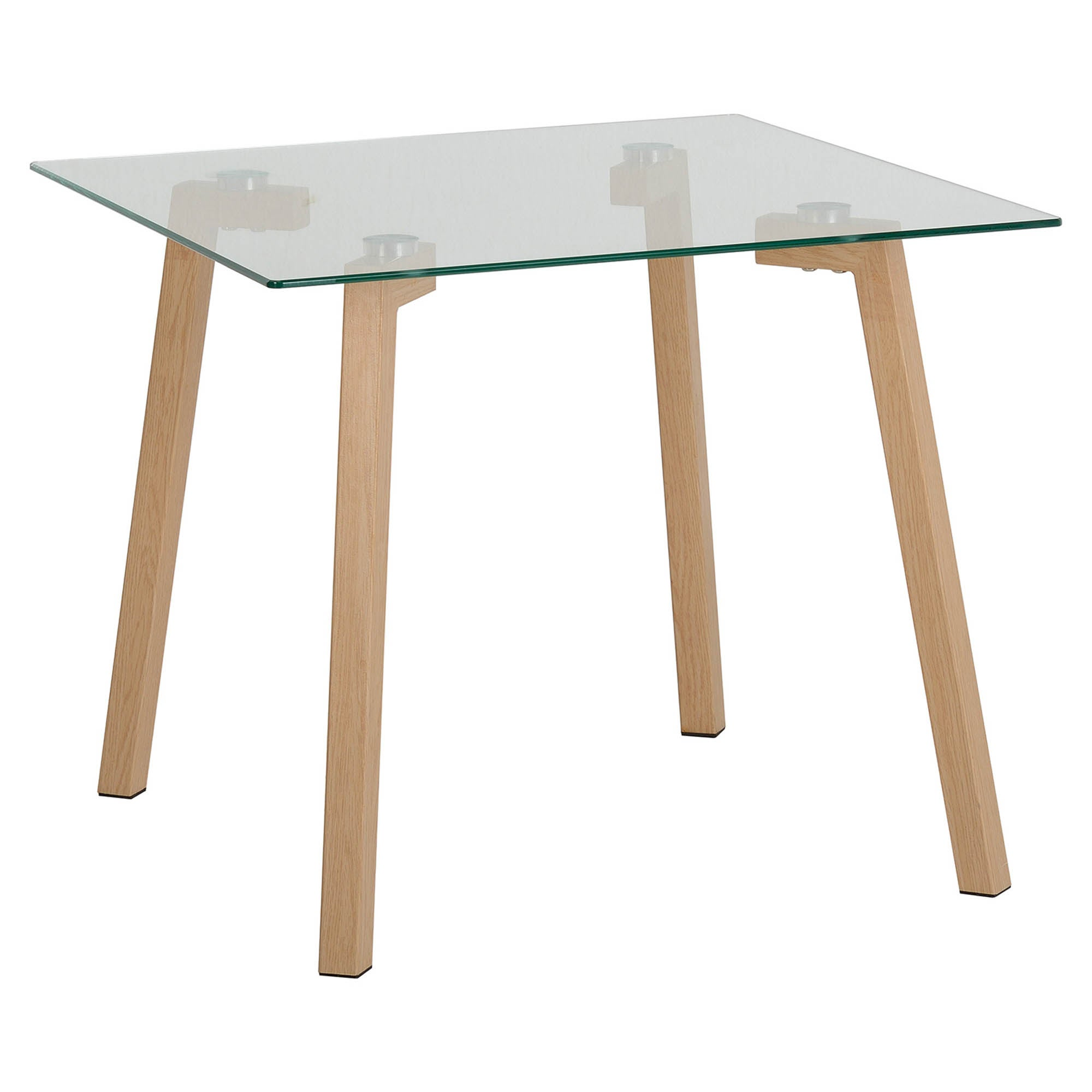 Morton Oak Effect and Glass Lamp Table Natural