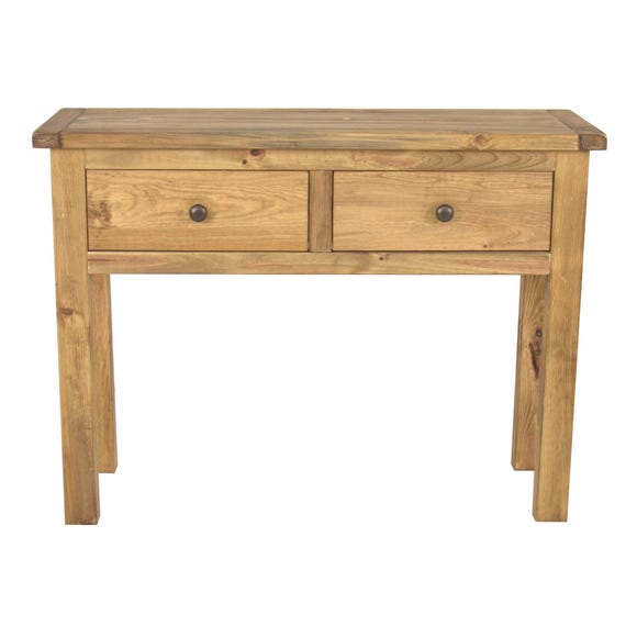 Sanford Pine Console Table Brown