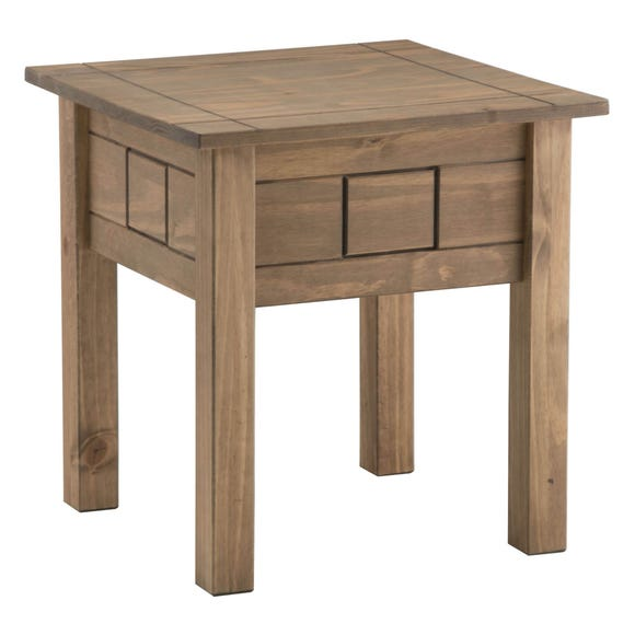 Santiago Pine Lamp Table Weathered Pine (Brown)
