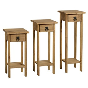 Corona Pine Set of 3 Plant Stands