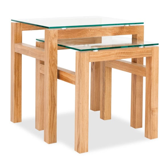 Tribeca Oak Nest of Tables Natural