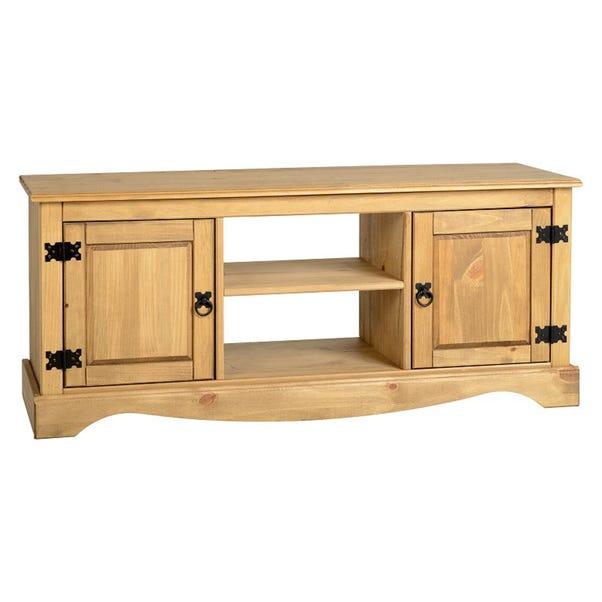 Corona Pine 2 Door 1 Shelf Flat Screen TV Unit Natural