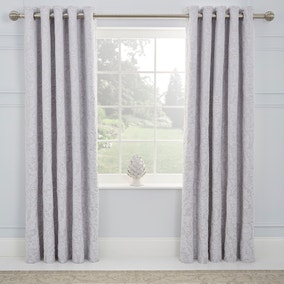 Dorma Winchester Grey Blackout Eyelet Curtains