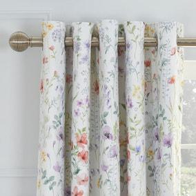 Dorma Botanical Wildflower Blackout Eyelet Curtains