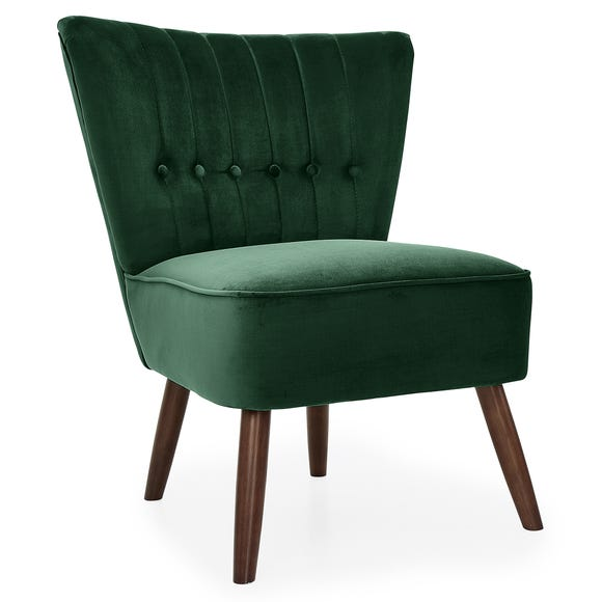 Isla Velvet Cocktail Chair - Emerald
