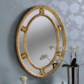 Yearn Decorative Oval Mirror 86x66cm Gold