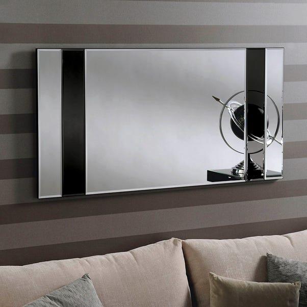 Yearn Athena Mirror 122x61cm Black Glass Black