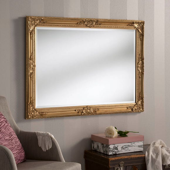 Yearn Florence Rectangle Mirror 104x74cm Gold Gold