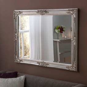 Yearn Florence Rectangle Mirror 104x74cm Silver