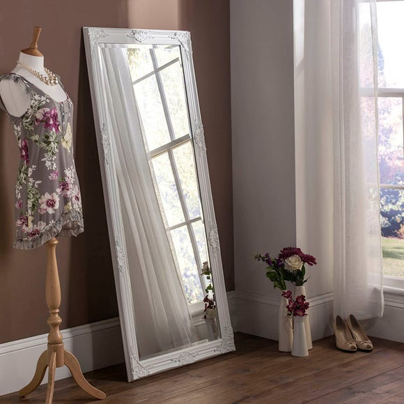Yearn Florence Leaner Mirror 74x163cm White White