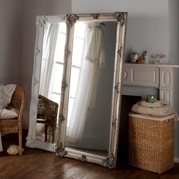 Yearn Baroque Leaner Mirror 81x173cm Silver Silver