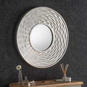 Yearn Rround Mirror 79x79cm Silver