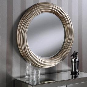 Yearn Round Mirror 86x86cm Champagne
