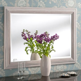 Yearn Framed Mirror Distressed White