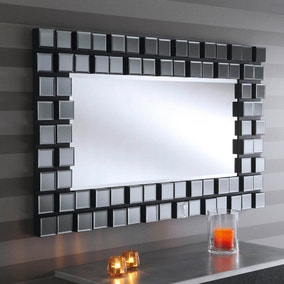 Yearn Smoked Glass Mirror Grey