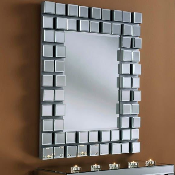 Yearn Block Mirror Silver Silver undefined