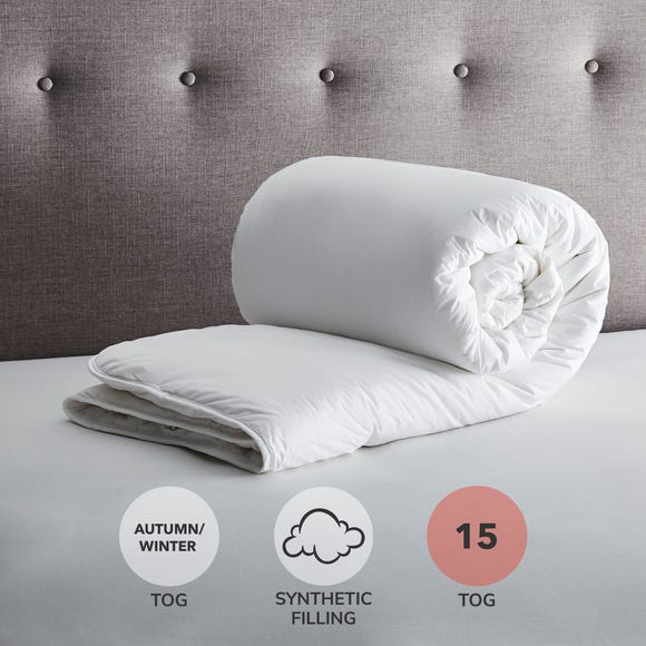 Fogarty Down Touch 15 Tog Duvet White undefined