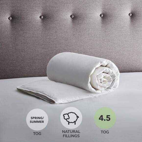 Fogarty White Goose Feather and Down 4.5 Tog Duvet White undefined