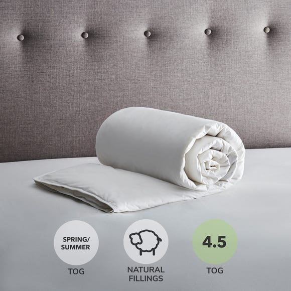 Fogarty Anti Allergy White Goose Feather and Down 4.5 Tog Duvet White undefined