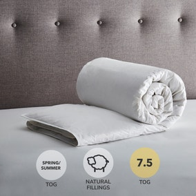 Fogarty Anti Bacterial White Goose Feather and Down 7.5 Tog Duvet