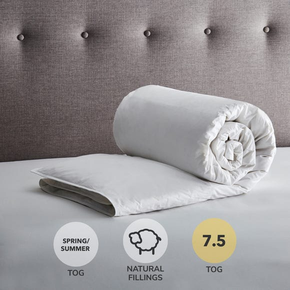 Fogarty Anti Allergy White Goose Feather and Down 7.5 Tog Duvet White undefined